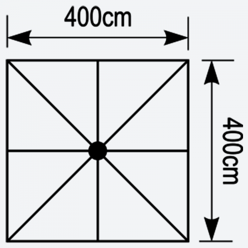 Κάτοψη ομπρέλας Aegean 4x4