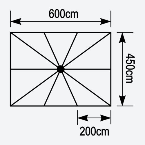 Κάτοψη ομπρέλας Astra 6x4,5