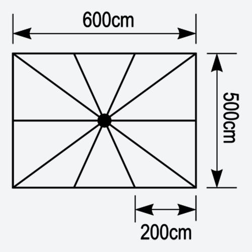 Κάτοψη ομπρέλας Astra 6x5